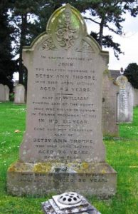 Thorpe W family Grave