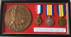 Harry Warne's Medals and Memorial Plaque